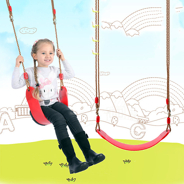 Lawn Game Play Swings Swing Set Portable Adjustable Heavy Duty Soft Plastic Kid's Boys and Girls Toy Gift