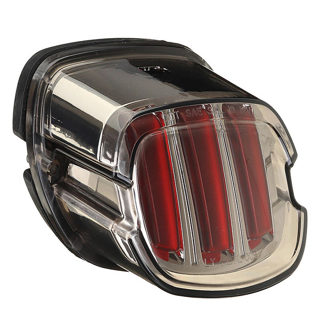 12V Motorcycle LED Tail Light License Plate Brake Red Lamp For Harley