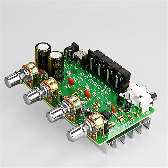 Amplifier Board Digital Audio Stereo 12-15 V 25+25 2.0 with USB Charging Interface(5V) Cars Computer for Car Home Theater Speakers DIY