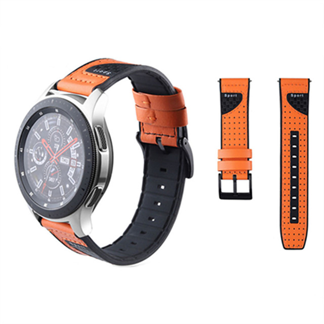 Watch Band for Fossil GEN 5 / Fossil Men's Gen 4 / Fossil Q Explorist HR Gen 4 FOSSIL Sport Band Silicone / Genuine Leather Wrist Strap