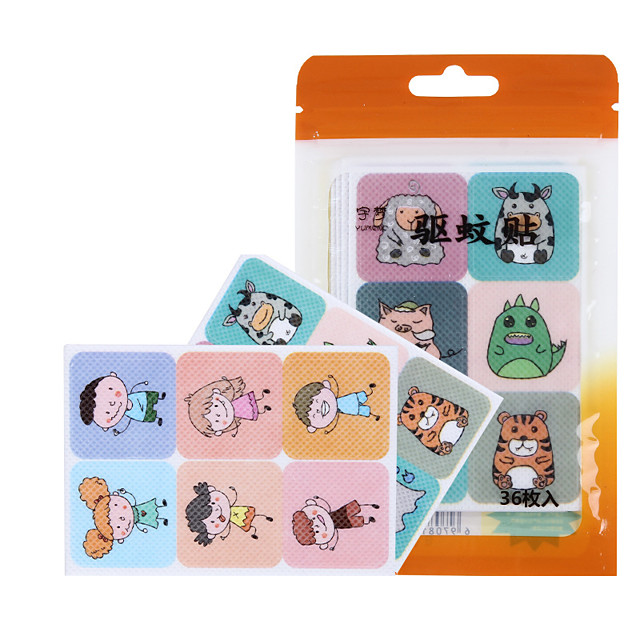 36pcs Infant And Child Mosquito Repellent Baby Adult Outdoor Portable Carry On Buckle Cartoon Bracelet Mosquito Control