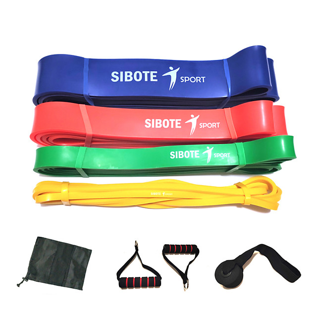 Pull up Assistance Bands 8 pcs Sports Natural Rubber Home Workout Exercise & Fitness Gym Workout Portable Non Toxic Durable Muscular Bodyweight Training Resistance Training Strength Trainer For Men