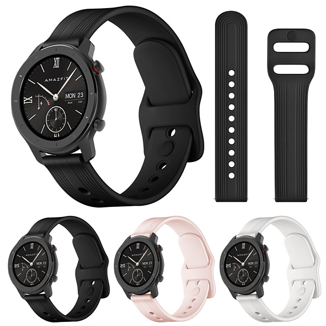 Silicone Sport Replacement Wristband For  Amazfit GTR 42mm / Amazfit GTR / Amazfit Bip Watch Band Sport Band Strap