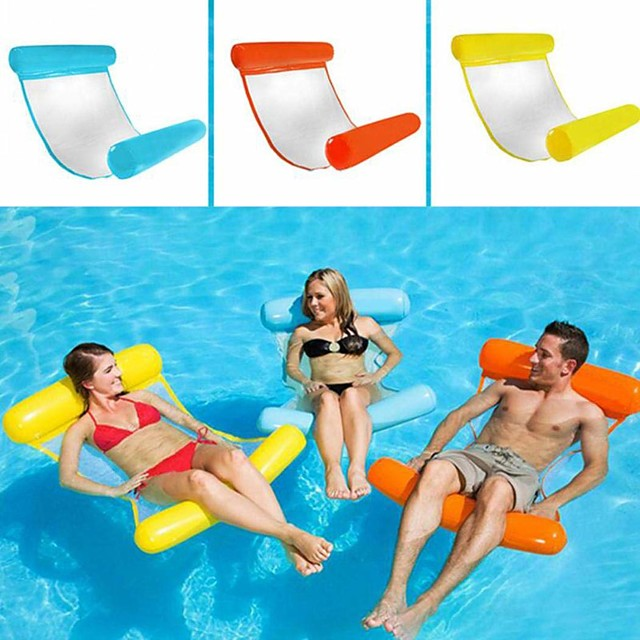 Inflatable Pool Float Inflatable Pool Water Hammock Drifter Pool Hammock Outdoor Portable PVC(PolyVinyl Chloride) Summer Pool Unisex Adults'
