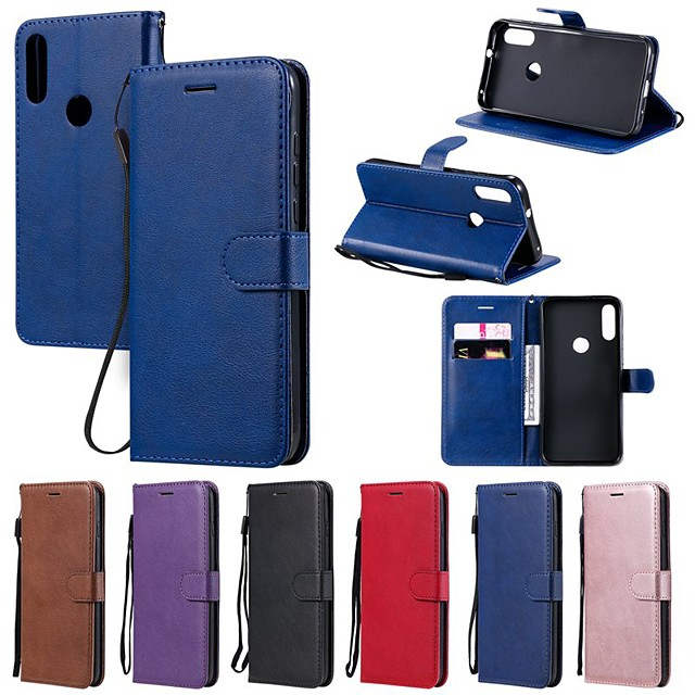 Case For Motorola MOTO G8 Play / MOTO G8 Power/MOTO E6 plus Wallet / Card Holder / with Stand Full Body Cases Solid Colored PU Leather For MOTO One Power/P30 note/P30 Play/Z4 Play/Z3 Play/E7
