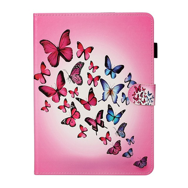 Case For Apple iPad New Air 10.5 / iPad Mini 3/2/1/4/5 Card Holder / with Stand / Flip Full Body Cases Butterfly PU Leather For iPad 10.2 2019/Pro 11 2020/Pro 9.7/2017/2018