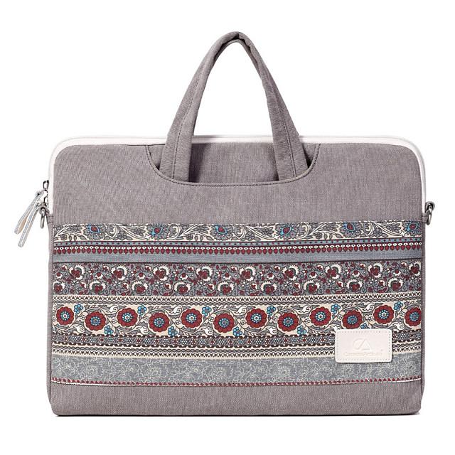 Laptop Bag National Style Canvas Inner Bag Handbag Support 13.3/14/15.6 Inch