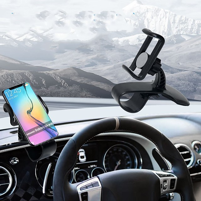 Dashboard mounted mobile phone holder hud buckle type mobile phone holder