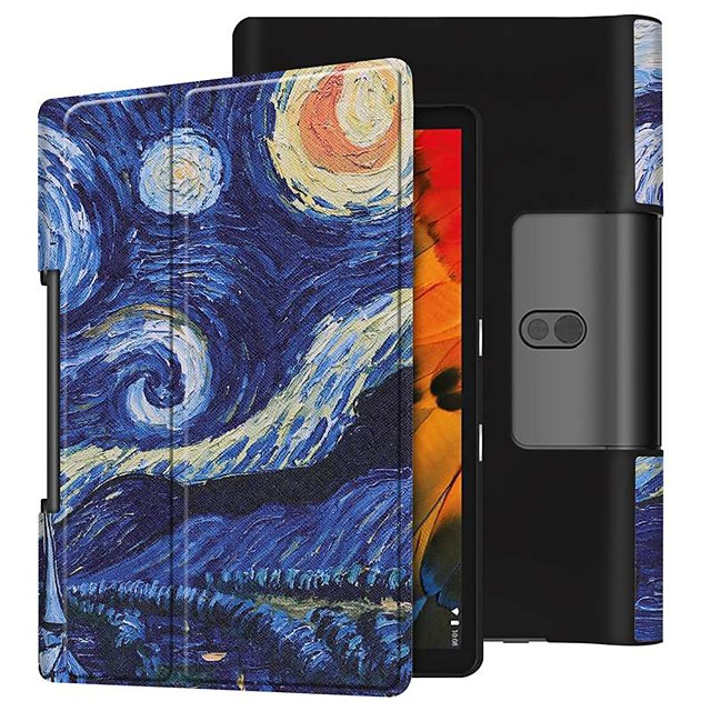Case For Lenovo Yoga Smart Tab YT-X705F Shockproof / with Stand / Flip Full Body Cases Starry Sky PU Leather Case For Lenovo Yoga Smart Tab YT-X705F