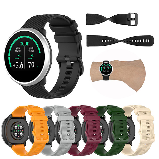 Sport Silicone Wrist Strap Watch Band for Polar Ignite / Vantage M Replaceable Bracelet Wristband