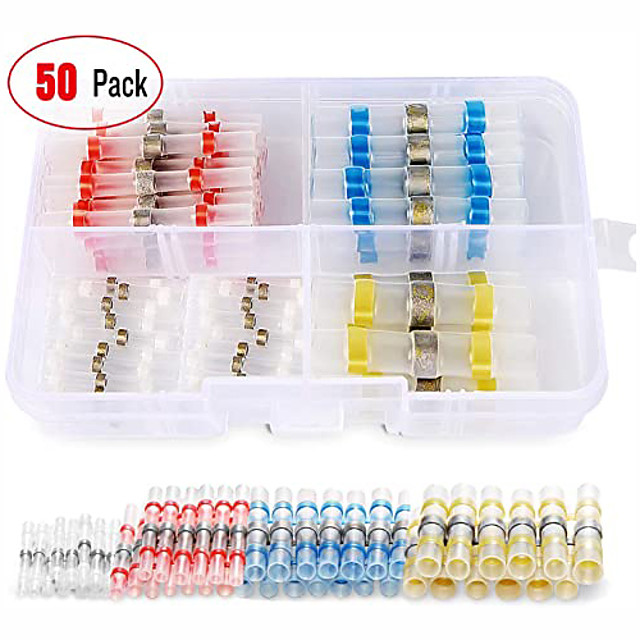 Double-wall adhesive heat shrinkable kit-50PCS wire connector