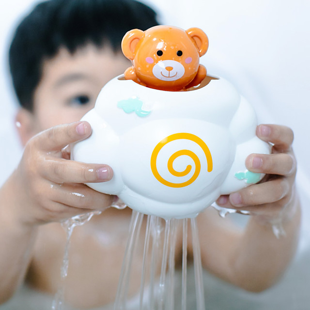 Cute Baby Bath Toys Rain Cloud Plastic Water Game Shower Squirt Float Animal Educational Summer Toys For Kids 1-3 Years Elephant