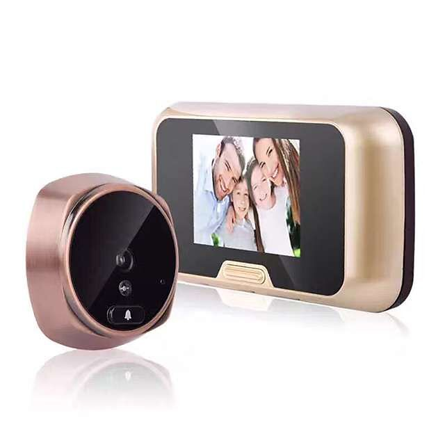 High-definition Visual Electronic Cat Eye Household Doorbell Anti-pry Electronic Cat Eye Door Mirror Supports Taking Pictures Video