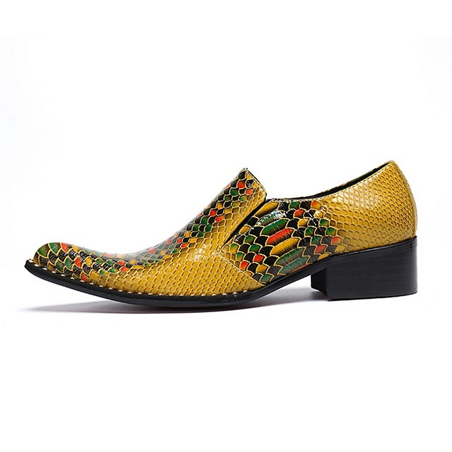 Men's Summer Outdoor Loafers & Slip-Ons PU Yellow