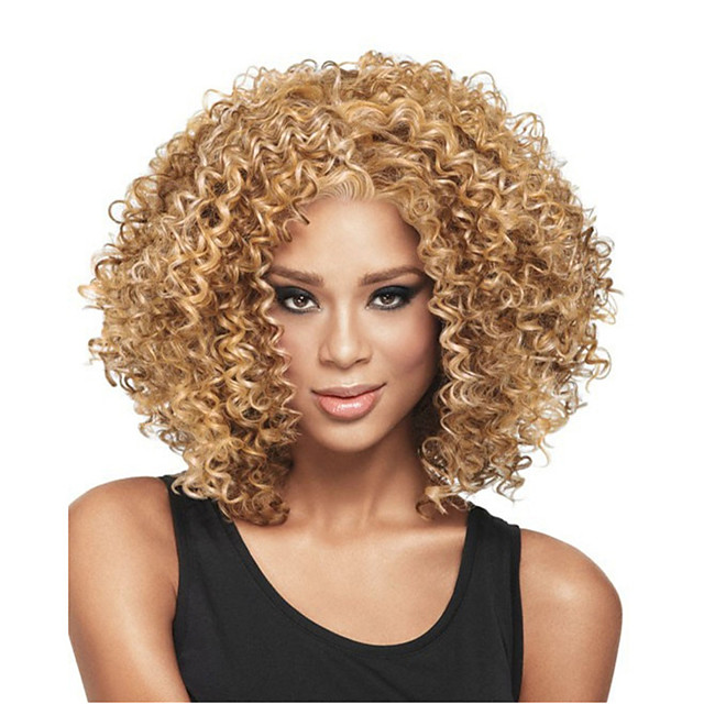Synthetic Wig Curly Pixie Cut Wig Short Light golden Light Brown Dark Brown Natural Black Synthetic Hair 12 inch Women's Easy to Carry Women Synthetic Blonde Light Brown