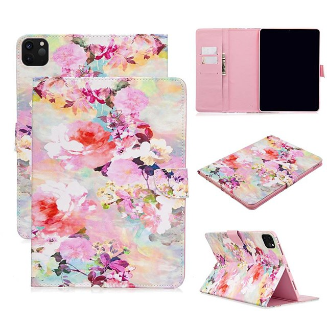 Case For Apple iPad Air/iPad 4/3/2/Mini 3/2/1 Wallet / Card Holder / with Stand Full Body Cases Flower PU Leather For iPad Pro 9.7/New Air 10.5 2019/Pro 11 2020/Mini 5/2017/2018/ipad 10.2