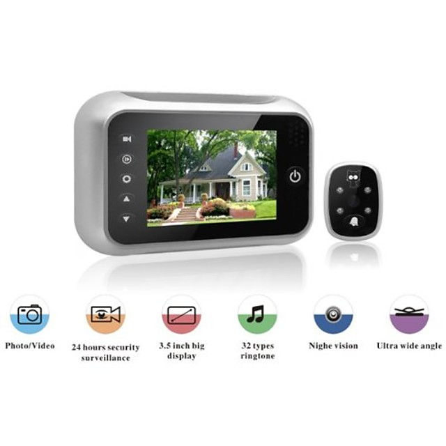 Explosion 3.5-inch wide-angle camera video intelligent doorbell monitor HD electronic cat eye camera door mirror night vision