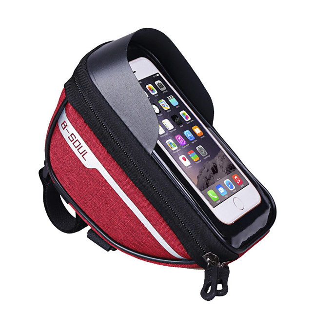 cell phone bag bike handlebar bag 6.4 inch touch screen waterproof portable cycling for black black / red sky blue