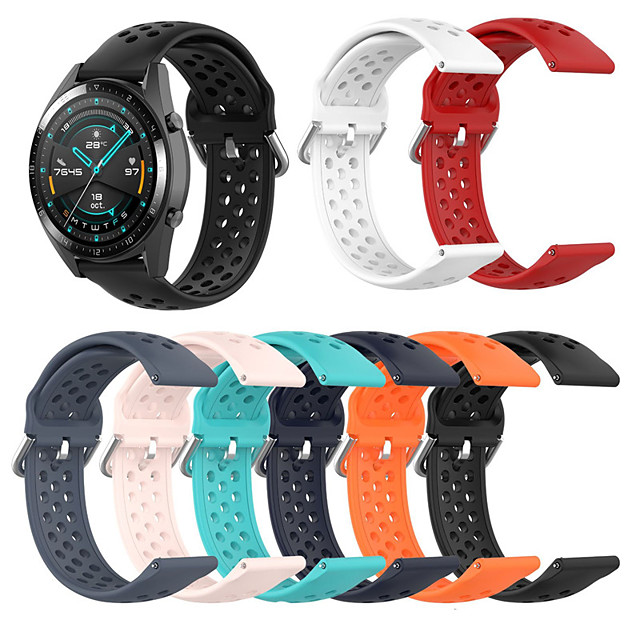 Watch Band for Huawei Watch GT 2e Huawei Sport Band / Classic Buckle Silicone Wrist Strap