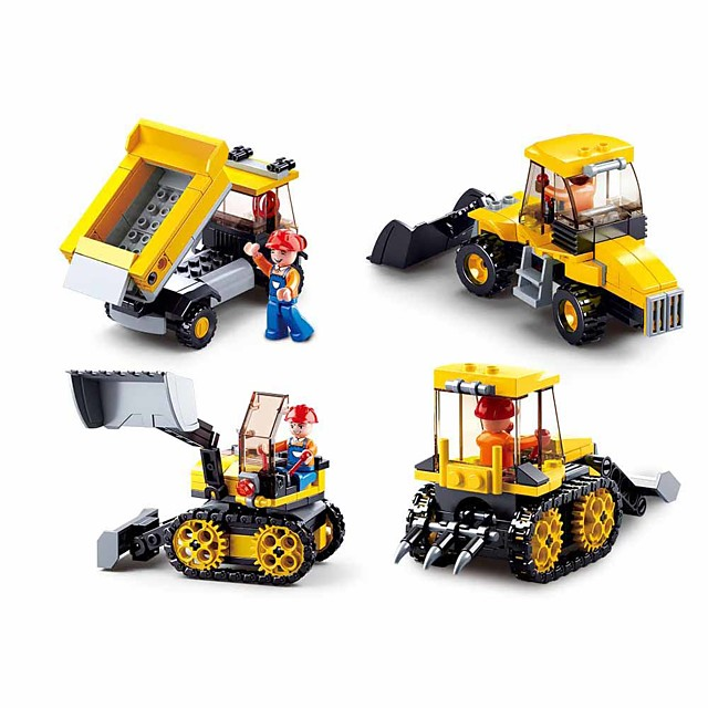 Building Blocks Educational Toy 438 pcs Truck Cartoon compatible Plastic Shell Legoing Exquisite Hand-made Decompression Toys DIY Boys and Girls Toy Gift / Kid's