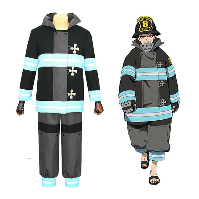 Inspired by Fire Force Anime Cosplay Costumes Japanese Cosplay Suits Coat Pants T-shirt For Men's Women's / Waist Belt
