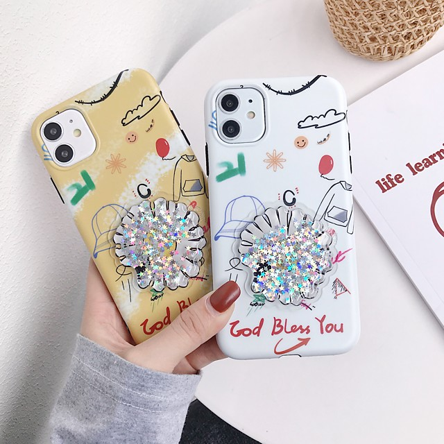 Case For Apple iPhone 11 / iPhone 11 Pro / iPhone 11 Pro Max Flowing Liquid / IMD / Frosted Back Cover Flower TPU