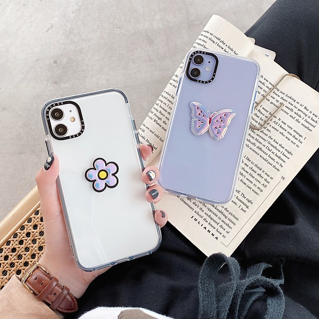 Case For Apple iPhone 11 / iPhone 11 Pro / iPhone 11 Pro Max Shockproof Back Cover Butterfly / Flower TPU