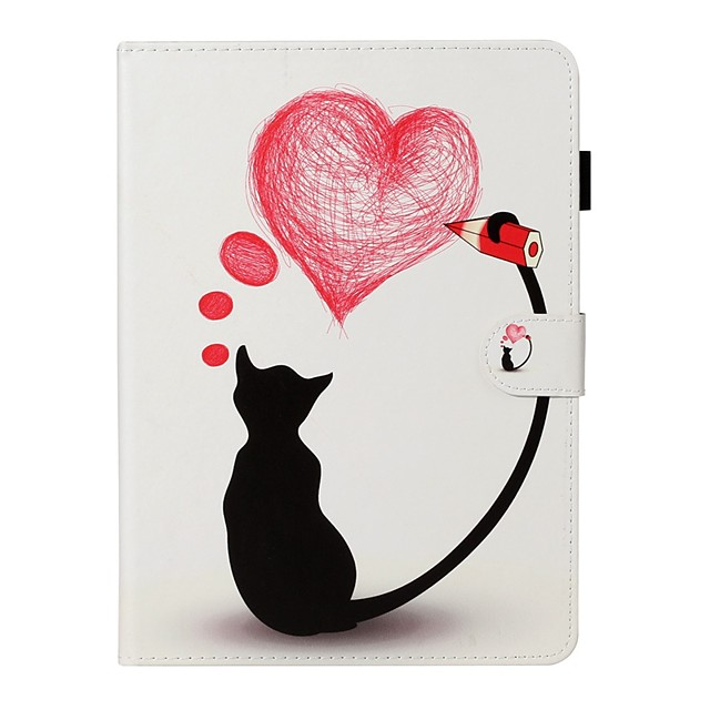 Case For Apple iPad New Air 10.5 / iPad Mini 3/2/1/4/5 Card Holder / with Stand / Flip Full Body Cases Cat PU Leather For iPad 10.2 2019/Pro 11 2020/Pro 9.7/2017/2018