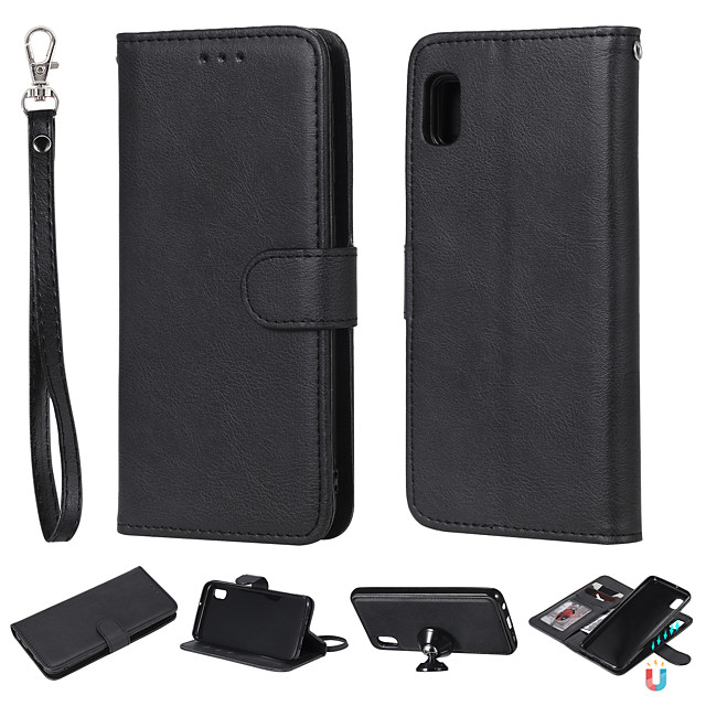 Business Leather Flip Case For Samsung Galaxy A71/ A51 / M40S / M30S / A10S / A20S / M30 / M20 / M10 Wallet Stand Detachable Magnetic 2 in 1 For Samsung A70 / A50 / A60 / A30 / A20 / A10 /A10E Cover