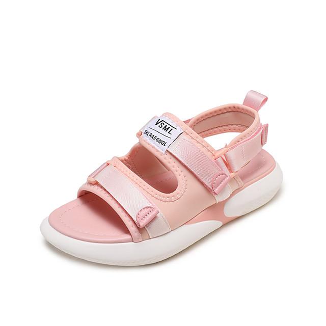 Women's Sandals Flat Sandal Spring & Summer Flat Heel Open Toe Daily Outdoor Mesh White / Black / Pink