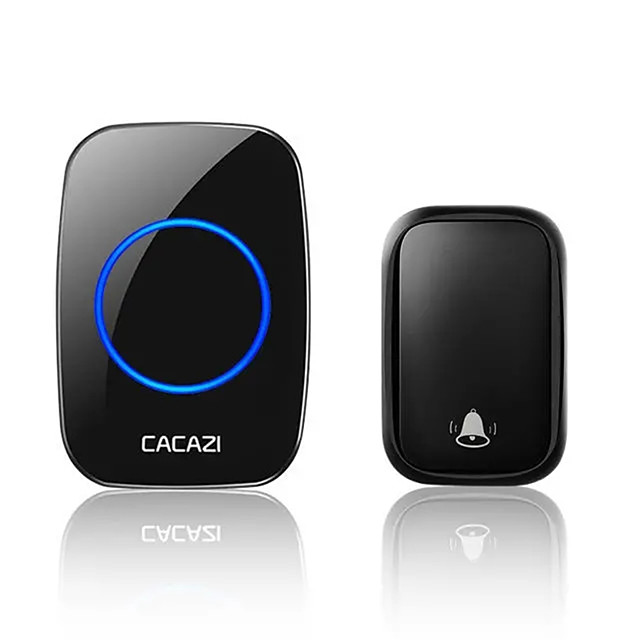 CACAZI FA58 Wireless Waterproof Self-powered Doorbell No Battery Required 1 Transmitter 1 Receiver Home Ring Bell