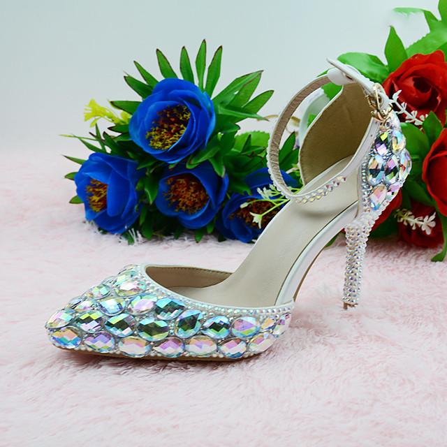 Women's Heels 2020 Stiletto Heel Pointed Toe Daily Party & Evening Buckle PU Rainbow / 3-4