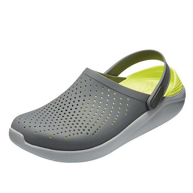 Women's Sandals Flat Sandal Summer Flat Heel Round Toe Daily PVC White / Black / Light Grey