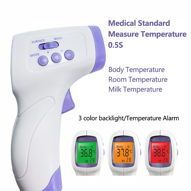 YNA-800 Non-contact Body Thermometer Forehead Digital Infrared Thermometer Portable Digital Measure Tool FDA &amp CE Certificated for Baby Adult