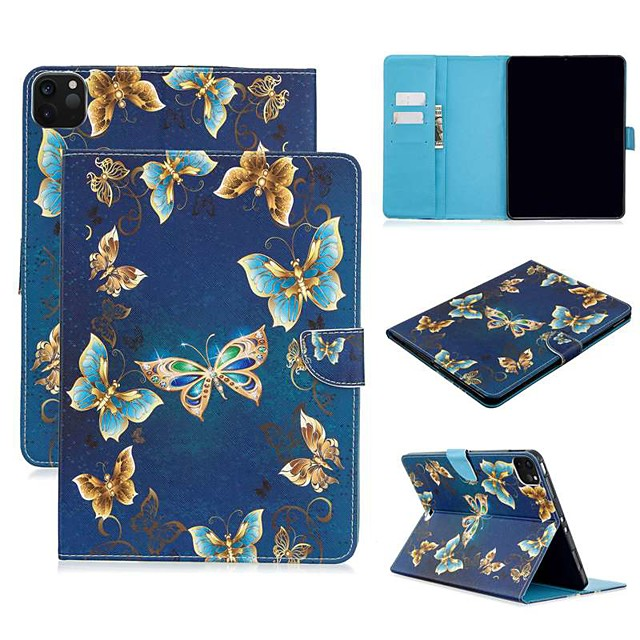 Case For Apple iPad Air/iPad 4/3/2/Mini 3/2/1 Wallet / Card Holder / with Stand Full Body Cases Butterfly PU Leather For iPad Pro 9.7/New Air 10.5 2019/Pro 11 2020/Mini 5/2017/2018/ipad 10.2