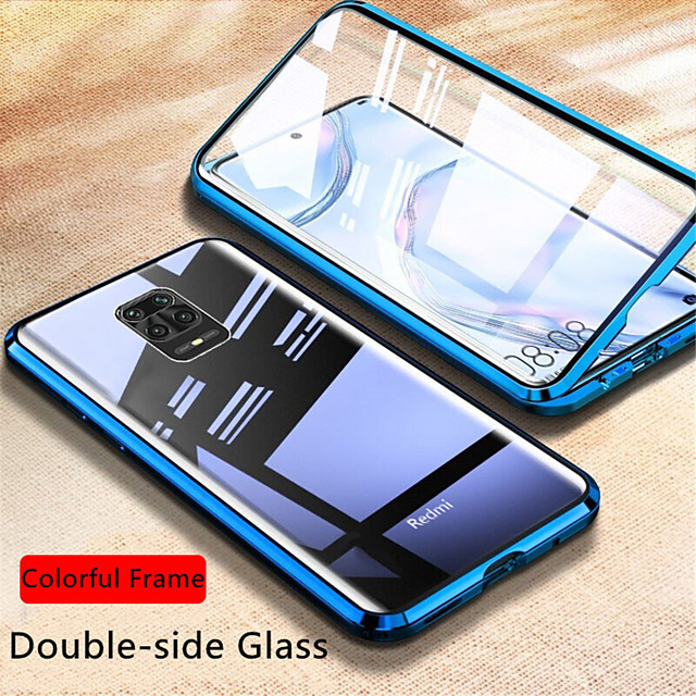 Magnetic Glass Case For Xiaomi Redmi Note 9S / 9Pro / 9Pro Max / 8T / 8 / 8Pro / 7s / 8A / K30Pro / K 20 Case Double Side Tempered Glass Metal Magnetic Adsorption Cover For Xiaomi Mi 10 / 10 Lite/ CC9