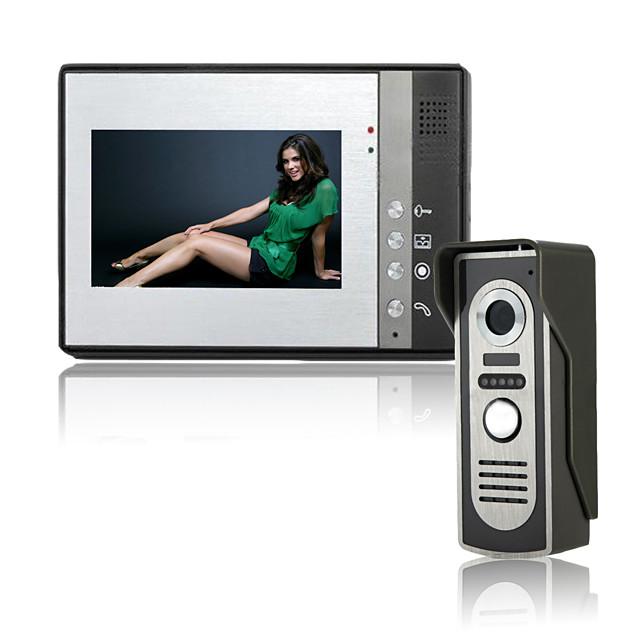 7 Inch Wire Vidoe Door phone Home Security Intercom System Unlock P802M11