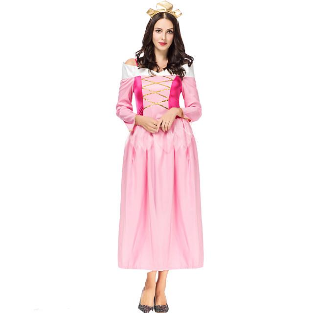 Princess Sleeping beauty Aurora Dress Cosplay Costume Women's Movie Cosplay A-Line Slip Halloween Pink Dress Halloween Carnival Masquerade Satin / Tulle