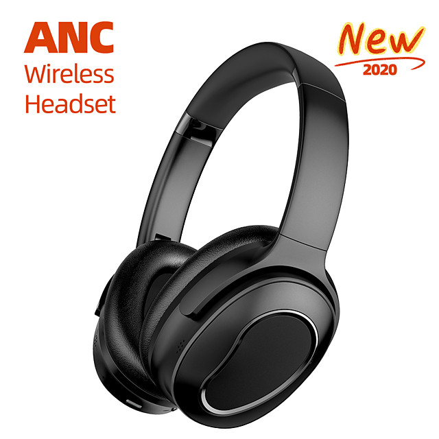 LITBest H001 Over-ear ANC Wireless Headphone Bluetooth 5.0 Active Noice-Cancelling with Microphone Volume Control HIFI for Office Business Travel Fit All Phone