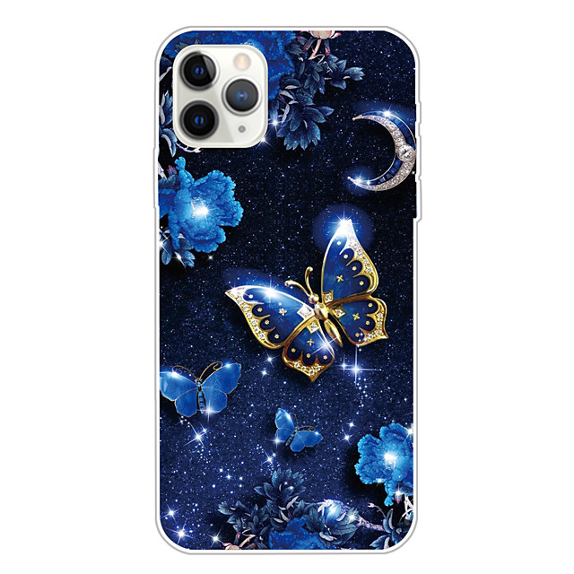 Case For Apple iPhone 11/11 Pro/11 Pro Max/XS/XR/XS Max/8 Plus/7 Plus/6S Plus/8/7/6/6s/SE/5/5S Transparent Pattern Back Cover Butterfly Soft TPU