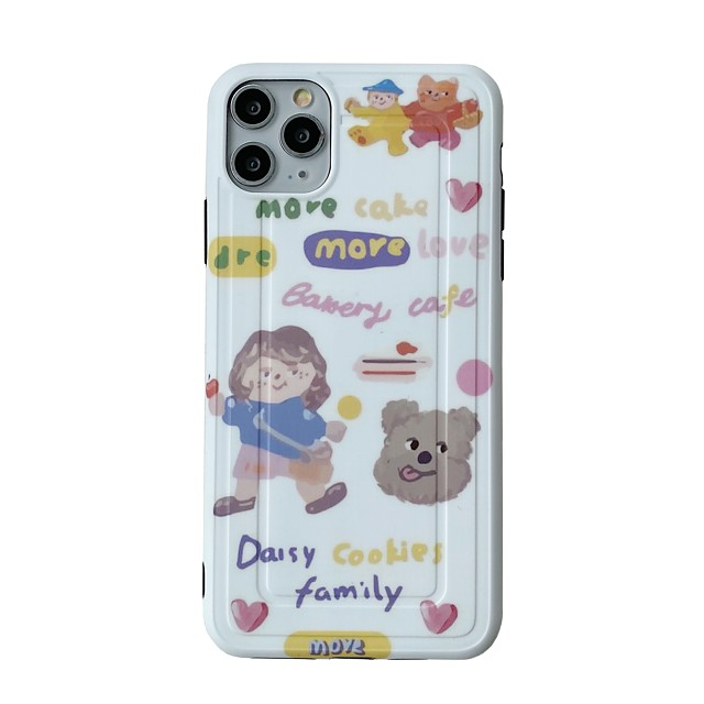 Case For Apple iphone 11/pro11proMax/x/XS/XR/XSMax/8p/8/7P/7/SE(2020)Cover TPU Cartoonsoft shell  iphone case set