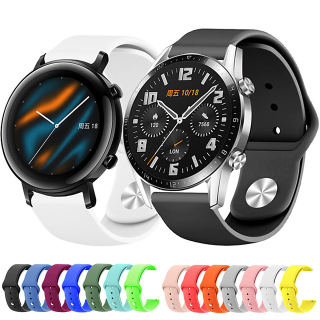 Sport Silicone Wrist Strap Watch Band for Huawei Watch GT 2e / Honor Magic Watch 2 46mm/42mm / GT2 46mm/42mm / GT Active / Watch 2 Pro / Watch 2 Replaceable Bracelet Wristband