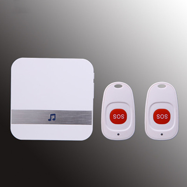 CACAZI Security Old People/ Child /Patient Distress Help Pager Medical Call Panic Alert Home Safety Alarm Doorbell Call Ring