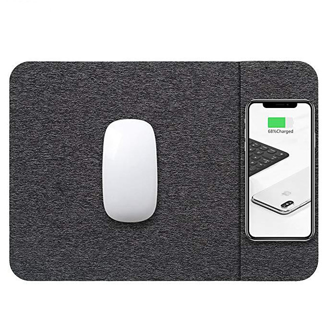 LITBest 300*220 mm Gaming Mouse Pad Support QI Wireless Charger Office Use Rubber Dest Mat Heated Mouse Pad