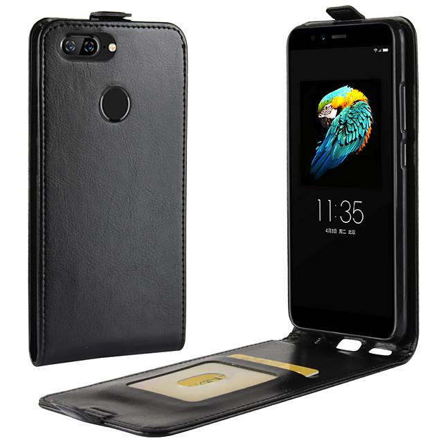 Case For Lenovo Lenovo A Plus(Lenovo A Plus A1010a20) Card Holder / Shockproof / Flip Full Body Cases Solid Colored PU Leather