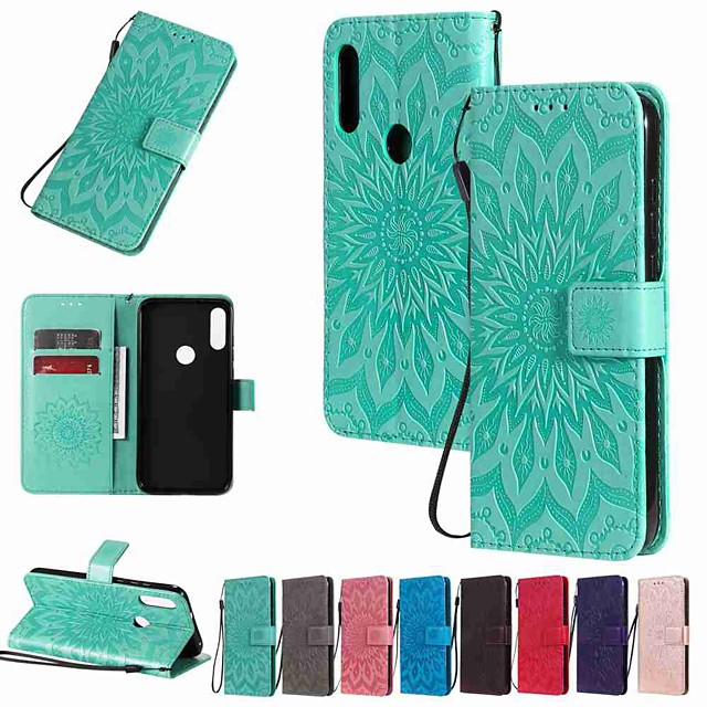 Case For Motorola MOTO G8 / Moto G8 Power / Moto E7 Wallet / Card Holder / with Stand Full Body Cases Sun Flower Embossing PU Leather / TPU for MOTO E6 Play / MOTO E6 / MOTO E6 Plus