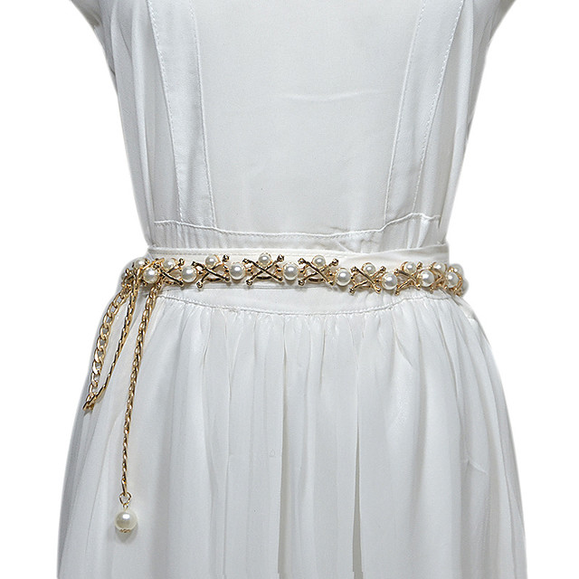 Beads Birthday / Party / Evening Sash With Imitation Pearl / Belt Women's Sashes