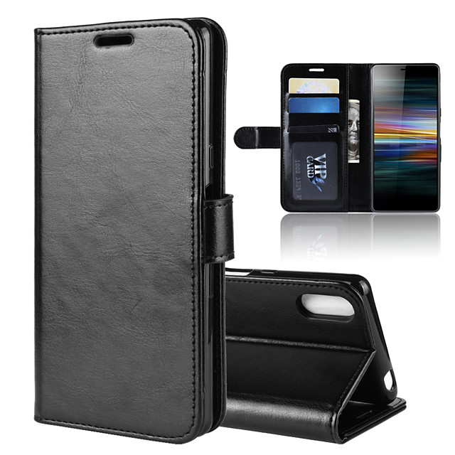 For Xperia L3 R64 Texture Single Fold Horizontal Flip Leather Case with Holder & Card Slots & Wallet