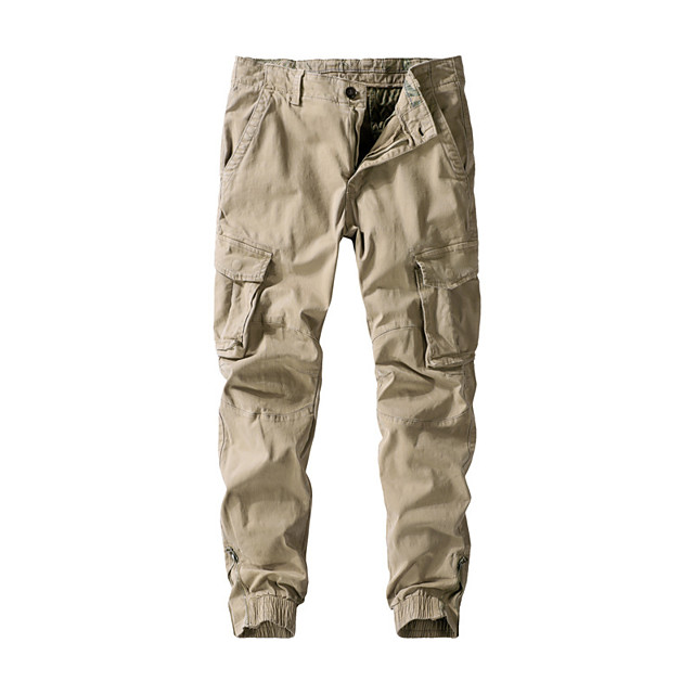 Men's Hiking Pants Hiking Cargo Pants Summer Outdoor Loose Breathable Quick Dry Soft Sweat-wicking Cotton Pants / Trousers Bottoms Black Army Green Khaki Dark Blue Camping / Hiking Hunting Fishing 29