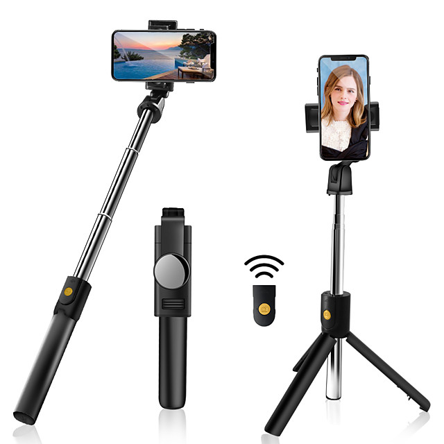 Selfie Stick Bluetooth Extendable Max Length 70 cm For Universal Android / iOS Universal
